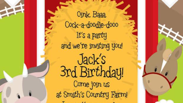 Around the Barn party invite