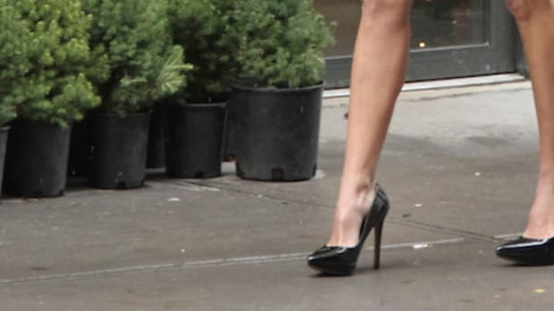 high heels in the city