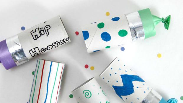 Confetti Popper Toilet Paper Tubes