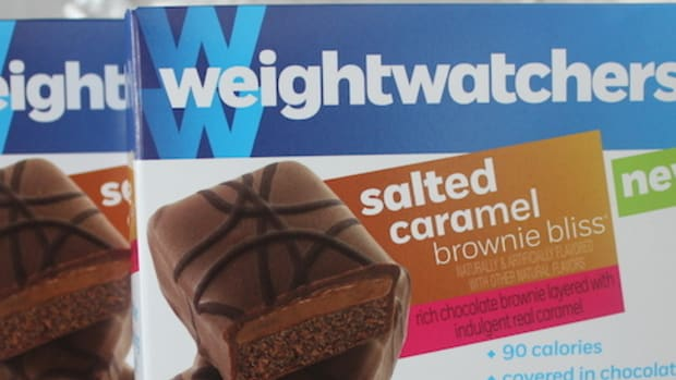 weight watchers salted caramel brownie banner