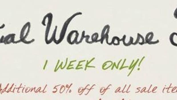 warehouse sale banner