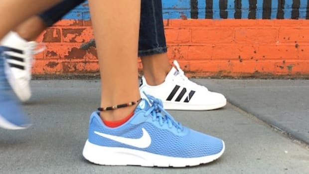 Sporty shoes for mom and daughter