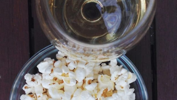 popcorn  + wine