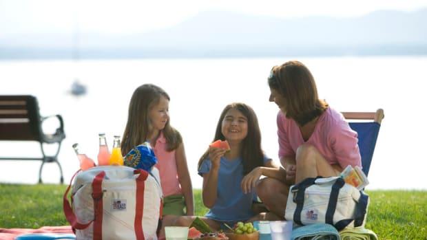family picnic smile