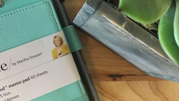 martha stewart office back to school notebook card holder