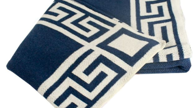 Furbish Greek Key throw
