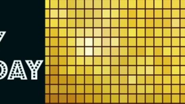 Golden mosaic vector background.