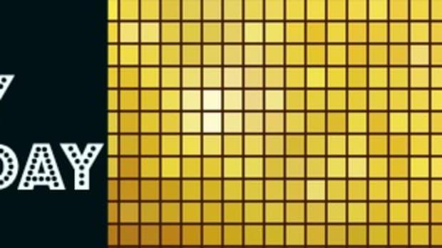 Golden mosaic vector background.