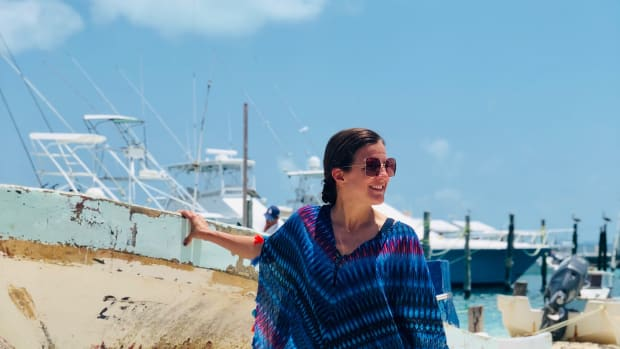 Fun Summer Caftan for Beach Vacations