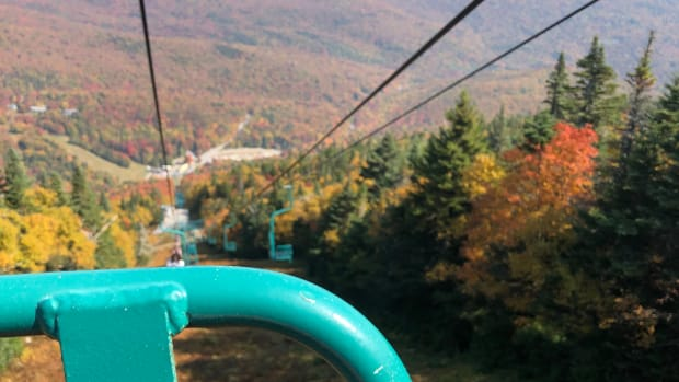 Soaking Up Autumn Scenic Lift Rides Mad River Glen