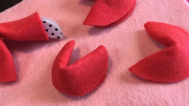 Valentine's Day Felt Fortune Cookie Craft