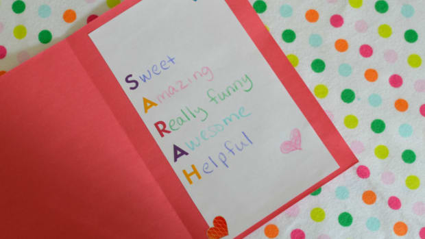 American Girl Poem Craft for Valentine's Day