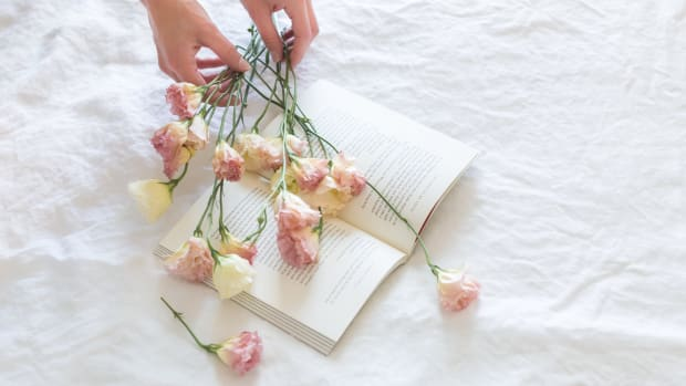 Canva - Pink-and-white Rose Flowers on White Printer Book
