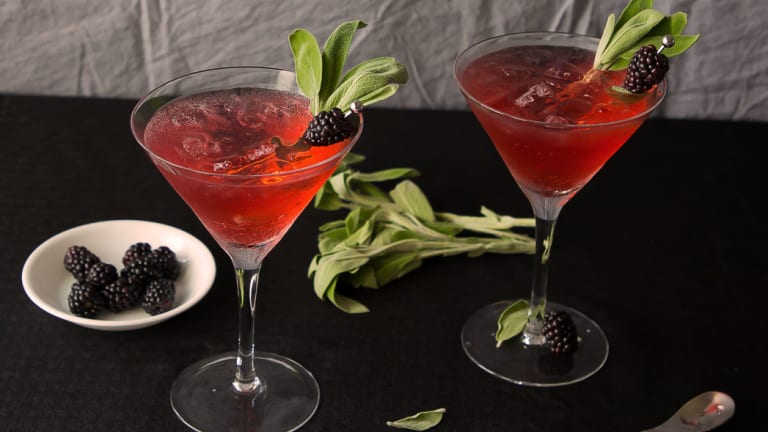 Blackberry Sage Gin and Tonic