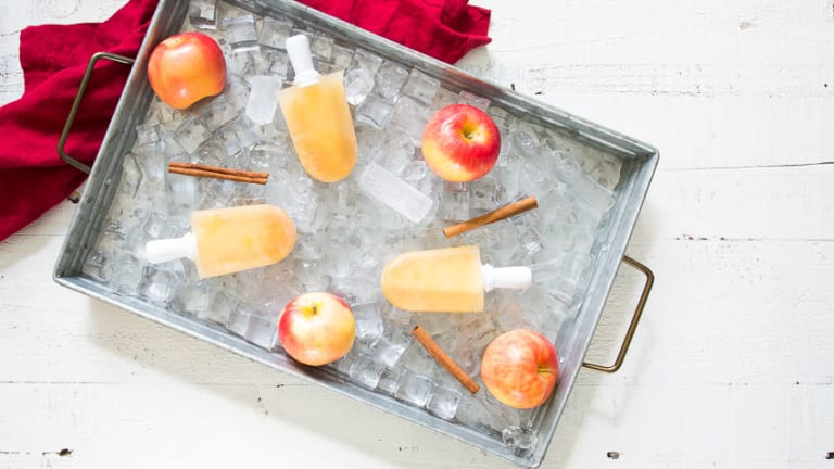 Spiked Apple Cider Pops