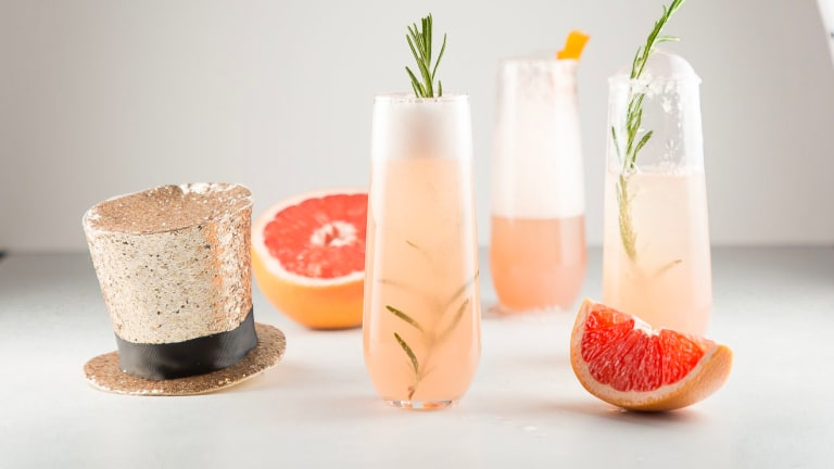 New Year's Eve Grapefruit Prosecco Cocktail