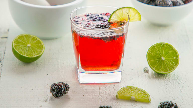 Blackberry Fizz Cocktail