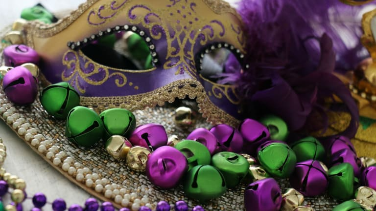 Mardi Gras Table for Two