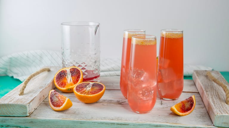 Sparkling Blood Orange Screwdriver Cocktail