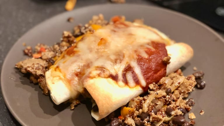 Tasty Meatless Enchiladas Recipe with Beyond Beef