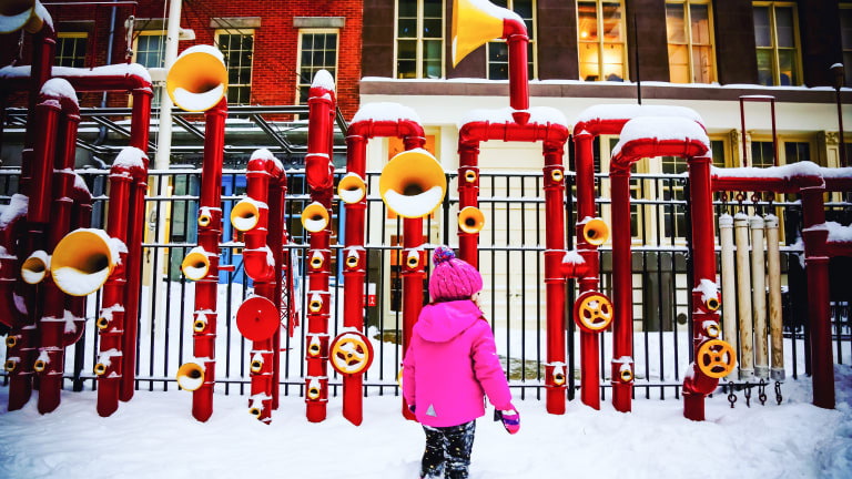 How to Keep Kids Happily at Play Outdoors This Winter