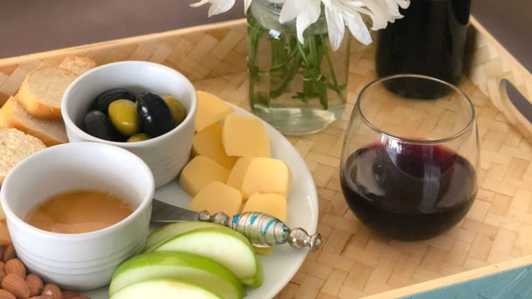 The Perfect Italian Wine and Cheese Plate for One