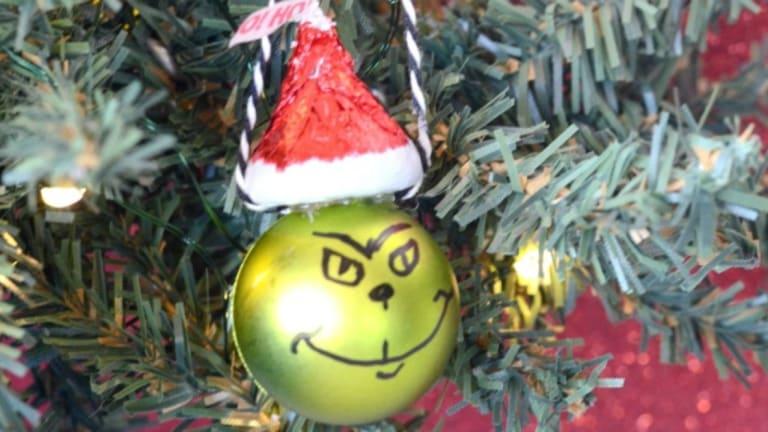 DIY Candy Grinch Ornament Craft