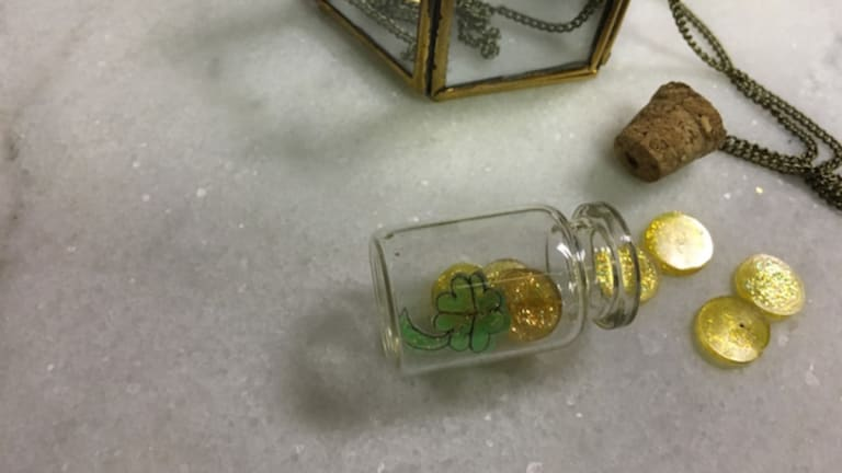 Craft a Lucky Bottle Necklace for St. Patrick's Day
