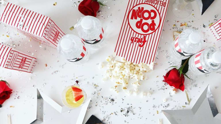 Throw a Popcorn and Prosecco Red Carpet Party