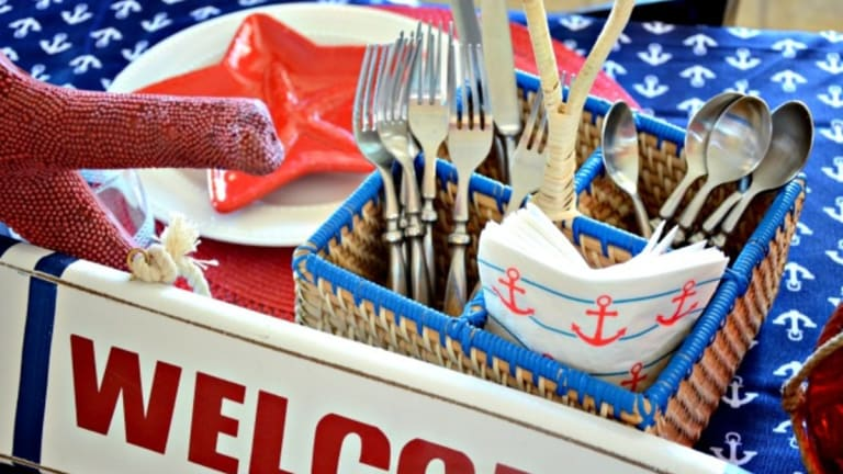 Red, White and Blue Nautical Table Decor for Your Next Summer Party!