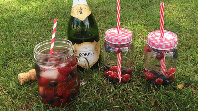 Red, White, and Bubbly Cocktail