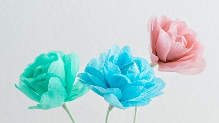 Celebrate Spring With This Giant Crepe Flower Craft