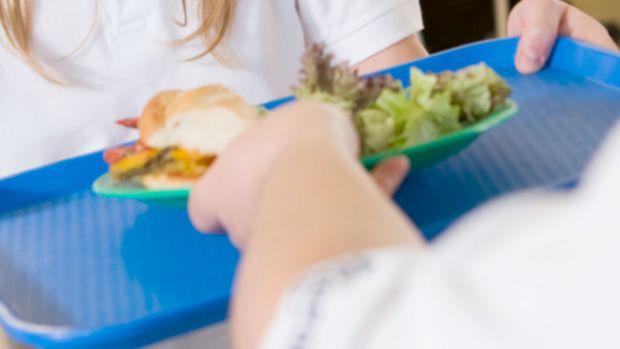 school lunch serving