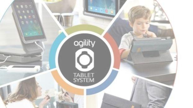Agility tablet system header