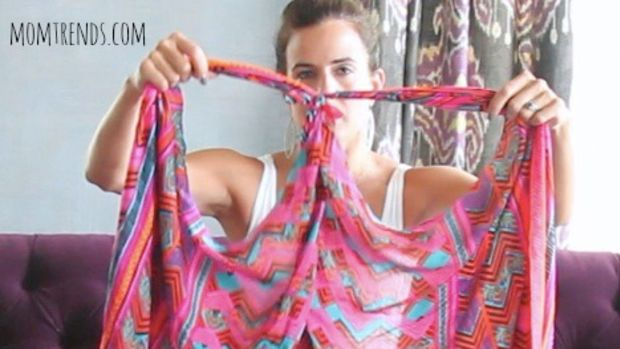 stella & dot scarves, scarf-tying demo
