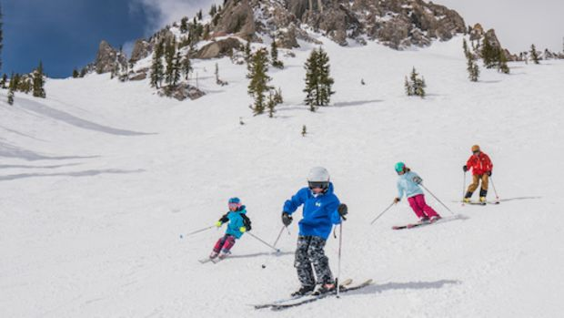 ski free in utah, skiing with kids, save when you ski