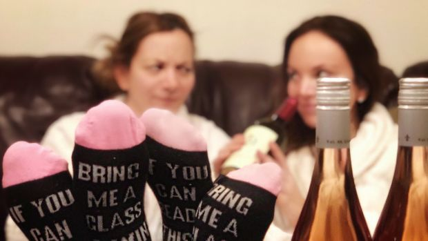 cuddly wine socks