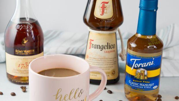 Boozy hazelnut coffee ingredients