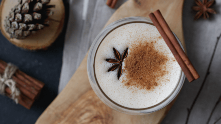 Holiday Hot Apple Cider Nog