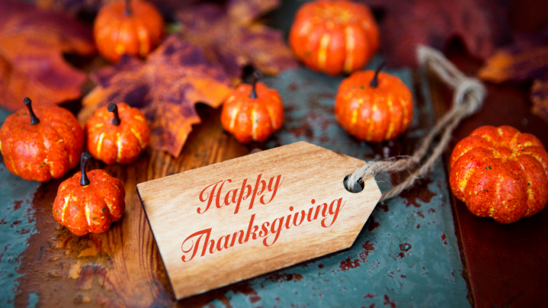 Happy Thanksgiving: Our Gratitude List