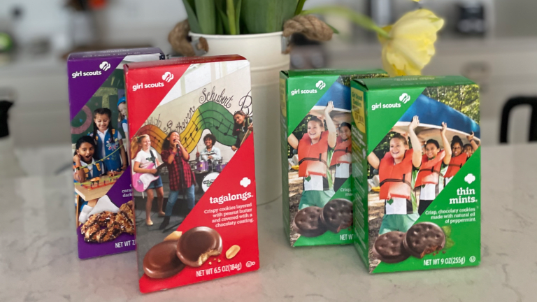 Everyday Treats Girl Scout Cookies and Wine