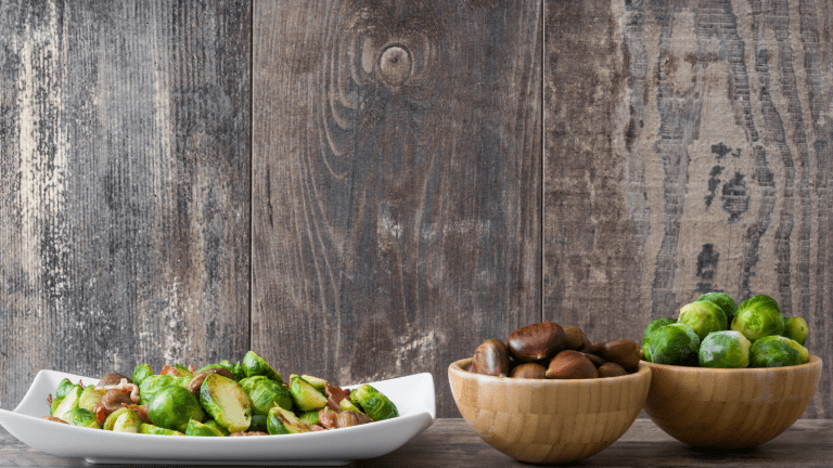 Holiday Favorite Recipe Brussels Sprouts with Chestnuts