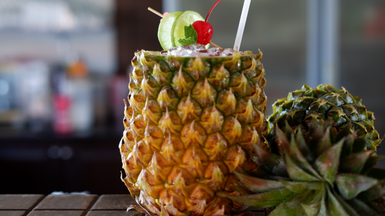 Sparkling Pineapple Cup Cocktail Recipe