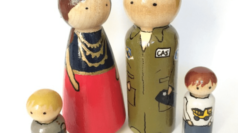 Patriotic Peggy Custom Pegdoll Family