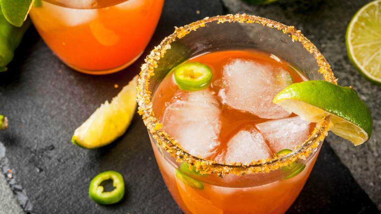 The Michelada Mexican Cocktail with Clamato