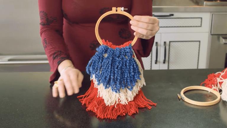 DIY Olympic Games String Craft Decoration