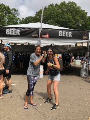 beer tent at tough mudder
