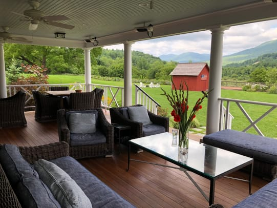 Hill Farm Inn porch
