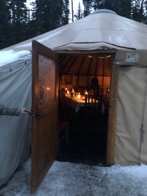 Yurt Dinner Big Sky