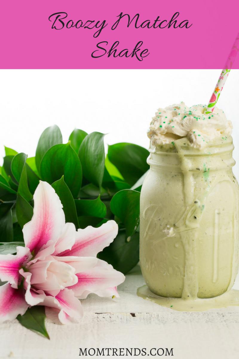 boozy matcha milkshake